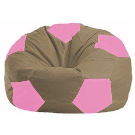 Кресло-мешок Мяч бежевый - розовый М 1.1-89