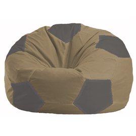 Кресло-мешок Мяч бежевый - серый М 1.1-186