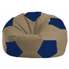 Кресло-мешок Мяч бежевый - синий М 1.1-85