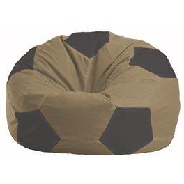 Кресло-мешок Мяч бежевый - тёмно-серый М 1.1-476