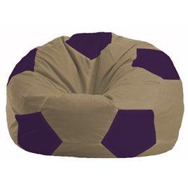 Кресло-мешок Мяч бежевый - фиолетовый М 1.1-78