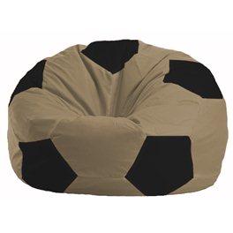 Кресло-мешок Мяч бежевый - чёрный М 1.1-77