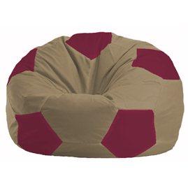 Кресло-мешок Мяч бежевый, бордовый М 1.1-97