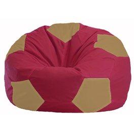 Кресло-мешок Мяч бордовый - бежевый М 1.1-301