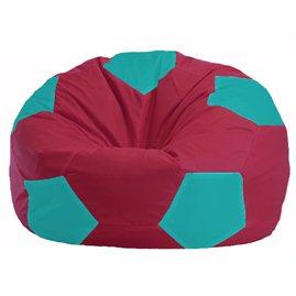 Кресло-мешок Мяч бордовый - бирюзовый М 1.1-311