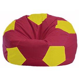 Кресло-мешок Мяч бордовый - жёлтый М 1.1-309