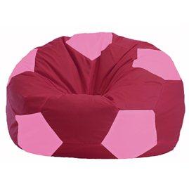 Кресло-мешок Мяч бордовый - розовый М 1.1-306