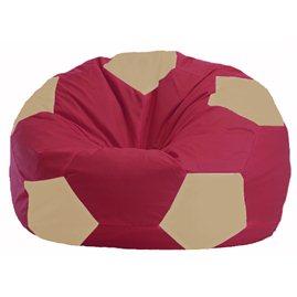 Кресло-мешок Мяч бордовый - светло-бежевый М 1.1-304