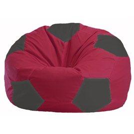 Кресло-мешок Мяч бордовый - тёмно-серый М 1.1-300