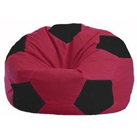 Кресло-мешок Мяч бордовый - чёрный М 1.1-299