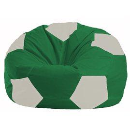 Кресло-мешок Мяч зелёный - белый М 1.1-244