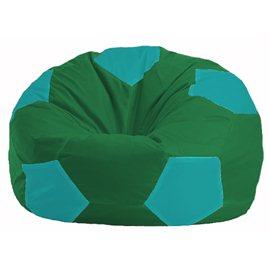 Кресло-мешок Мяч зелёный - бирюзовый М 1.1-243
