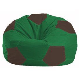 Кресло-мешок Мяч зелёный - коричневый М 1.1-242