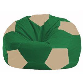 Кресло-мешок Мяч зелёный - светло-бежевый М 1.1-240
