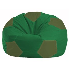 Кресло-мешок Мяч зелёный - тёмно-оливковый М 1.1-236