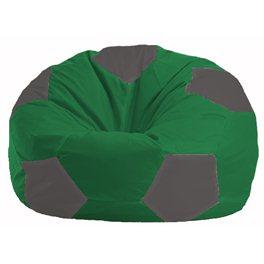 Кресло-мешок Мяч зелёный - тёмно-серый М 1.1-238