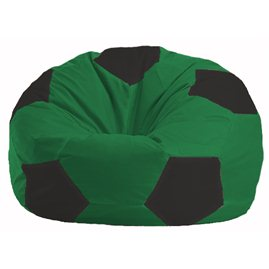 Кресло-мешок Мяч зелёный - чёрный М 1.1-235