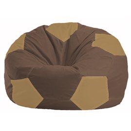 Кресло-мешок Мяч коричневый - бежевый М 1.1-330