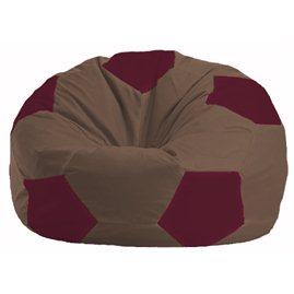 Кресло-мешок Мяч коричневый - бордовый М 1.1-318