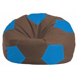 Кресло-мешок Мяч коричневый - голубой М 1.1-319