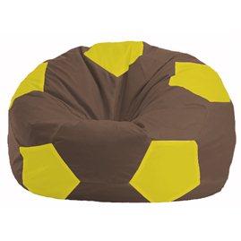Кресло-мешок Мяч коричневый - жёлтый М 1.1-316