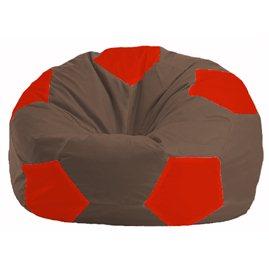 Кресло-мешок Мяч коричневый - красный М 1.1-319