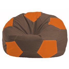 Кресло-мешок Мяч коричневый - оранжевый М 1.1-324