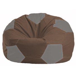 Кресло-мешок Мяч коричневый - серый М 1.1-327