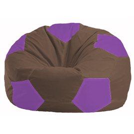 Кресло-мешок Мяч коричневый - сиреневый М 1.1-329