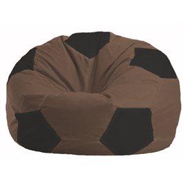 Кресло-мешок Мяч коричневый - чёрный М 1.1-454