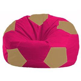 Кресло-мешок Мяч малиновый - бежевый М 1.1-377