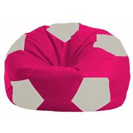 Кресло-мешок Мяч малиновый - белый М 1.1-382