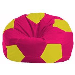 Кресло-мешок Мяч малиновый - жёлтый М 1.1-386