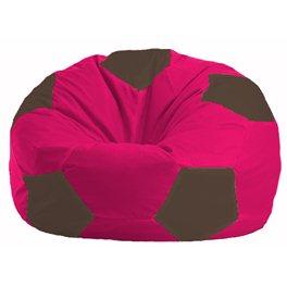Кресло-мешок Мяч малиновый - коричневый М 1.1-372