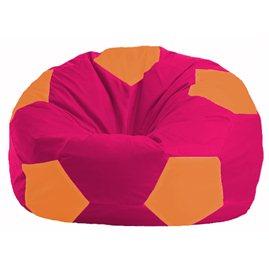 Кресло-мешок Мяч малиновый - оранжевый М 1.1-388