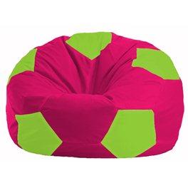 Кресло-мешок Мяч малиновый - салатовый М 1.1-390