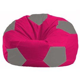 Кресло-мешок Мяч малиновый - серый М 1.1-374