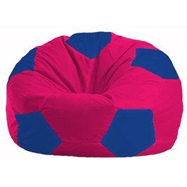 Кресло-мешок Мяч малиновый - синий М 1.1-375