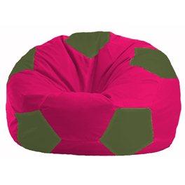 Кресло-мешок Мяч малиновый - тёмно-оливковый М 1.1-391