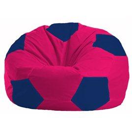 Кресло-мешок Мяч малиновый - тёмно-синий М 1.1-378