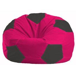 Кресло-мешок Мяч малиновый - чёрный М 1.1-381
