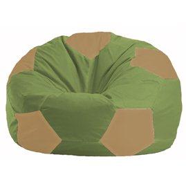 Кресло-мешок Мяч оливковый - бежевый М 1.1-461
