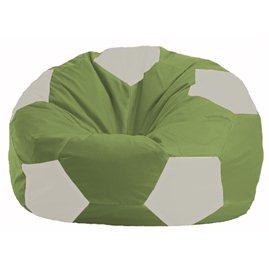 Кресло-мешок Мяч оливковый - белый М 1.1-231