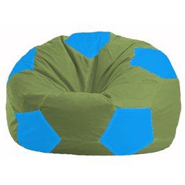 Кресло-мешок Мяч оливковый - голубой М 1.1-229