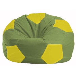 Кресло-мешок Мяч оливковый - жёлтый М 1.1-288