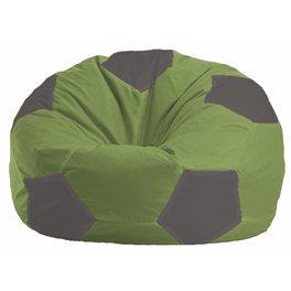 Кресло-мешок Мяч оливковый - серый М 1.1-224