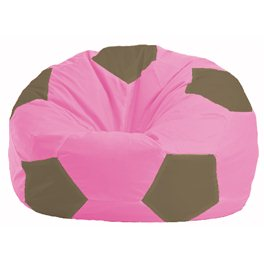 Кресло-мешок Мяч розовый - бежевый М 1.1-196