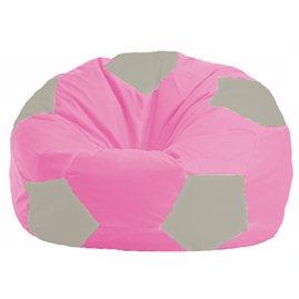 Кресло-мешок Мяч розовый - светло-серый М 1.1-205