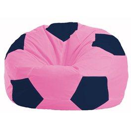 Кресло-мешок Мяч розовый - тёмно-синий М 1.1-192