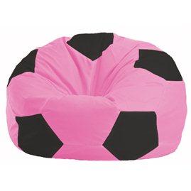 Кресло-мешок Мяч розовый - чёрный М 1.1-188